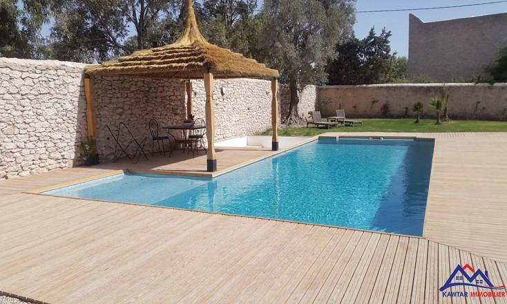 Jolie villa avec piscine vente villa essaouira r f v219 for Construction piscine marrakech